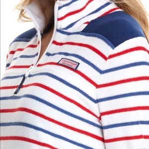 VINEYARD VINES TERRY CLOTH USA PULLOVER
